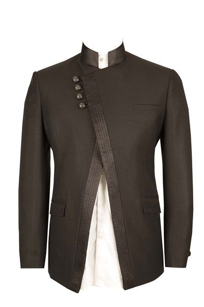 Asymmetrical Bandgala  Pnraocom  Menswear  Mens -8106
