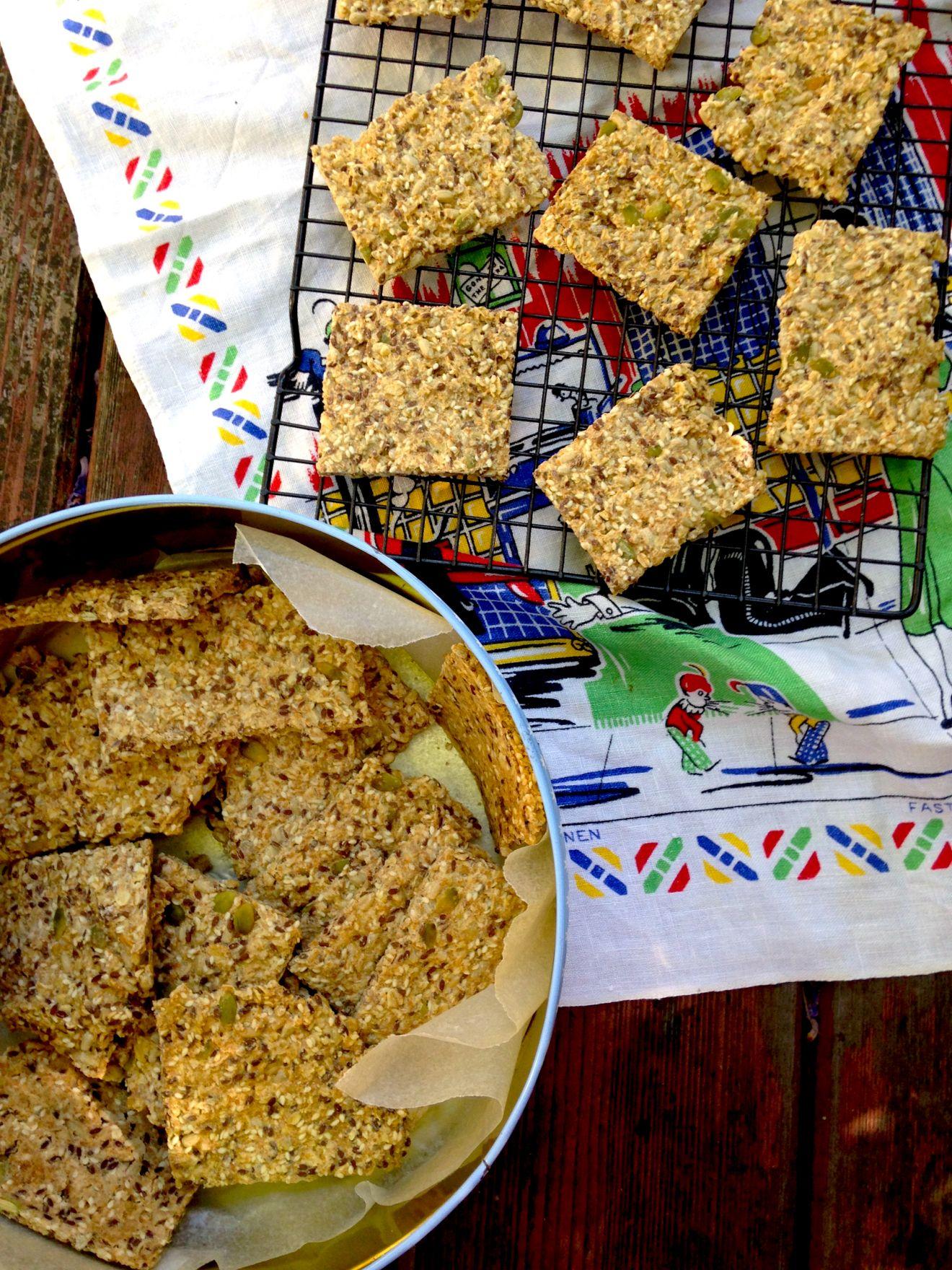 Swedish Seed Crackers Yummy healthy snacks, Cracker