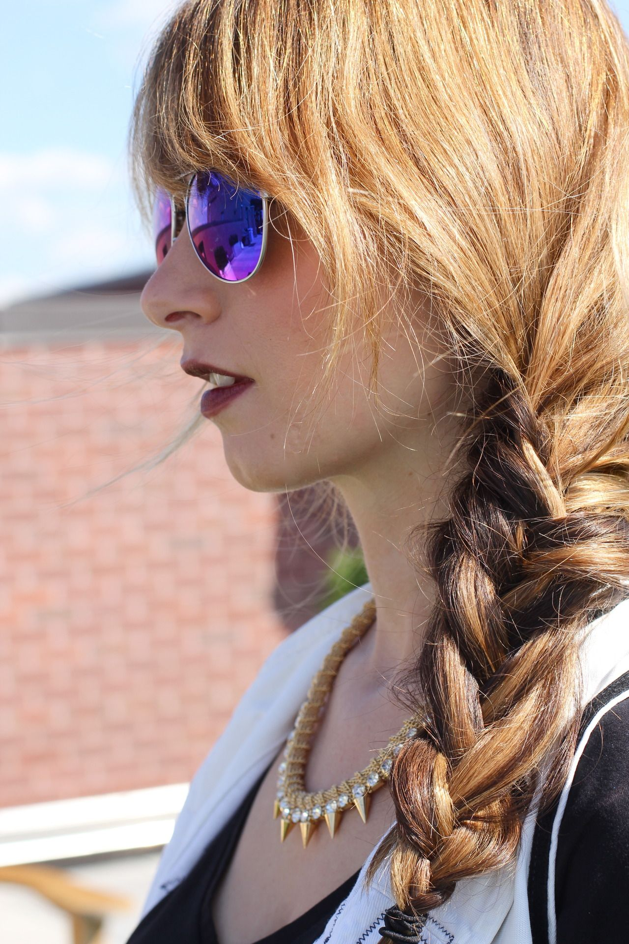 Side braid u mirrored shades dcstylesyndicate pinterest side
