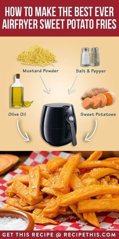 How To Make The Best Ever Air Fryer Sweet Potato Fries | Recipe This