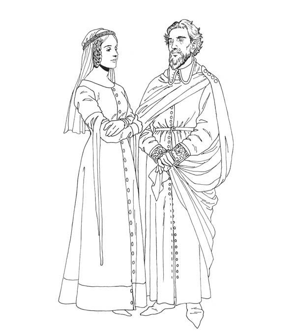 middle ages coloring pages - photo#31