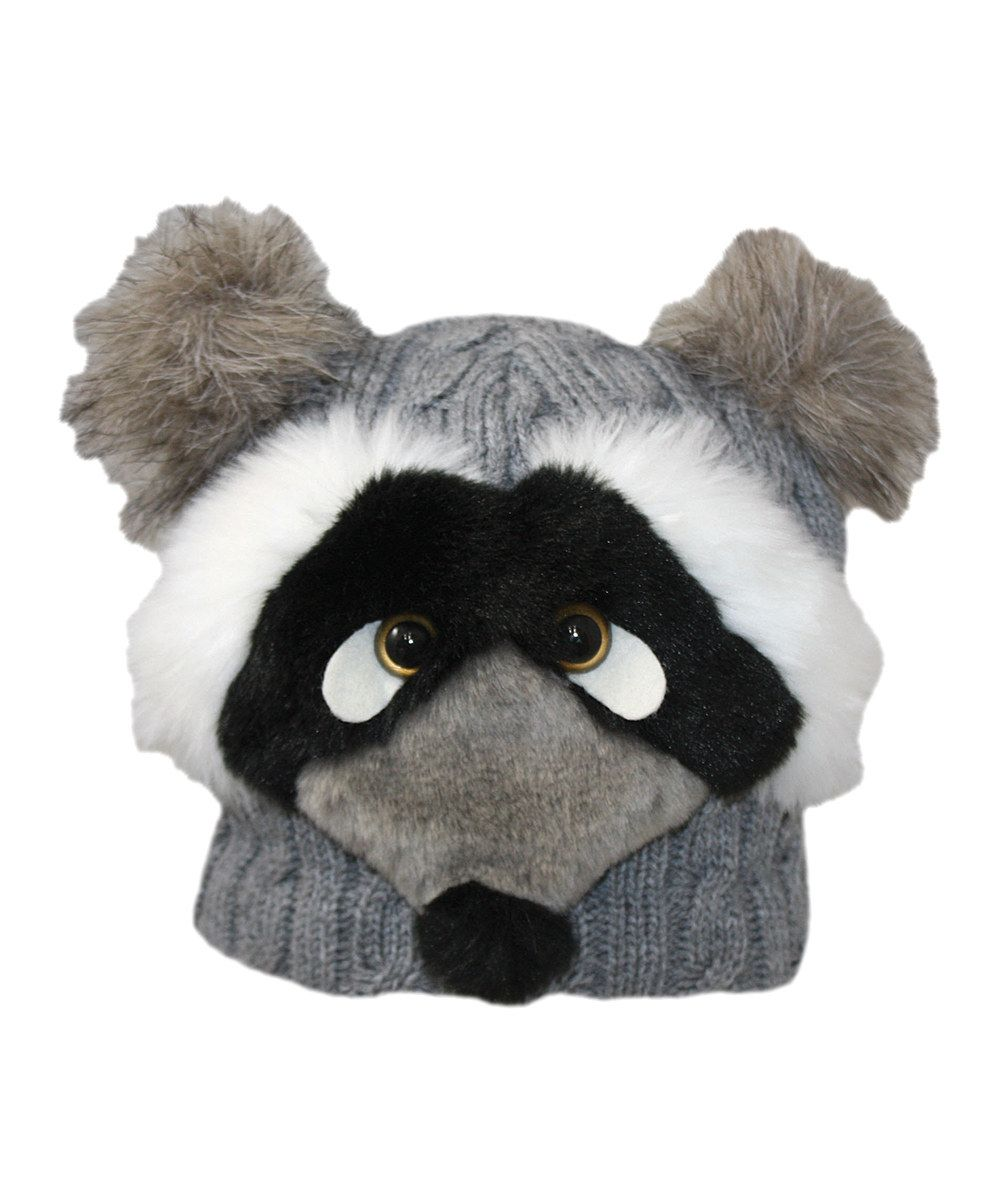 Gray raccoon beanie raccoon beanie jeanne simmons