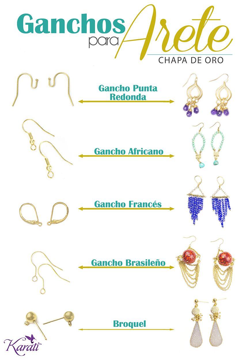 Ganchosparaarete Chapadeoro Aretes Www Karati Com Bisuteria Materiales Herramientas De Joyeria Bisuteria Y Complementos