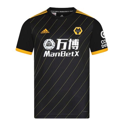 19/20 Wolverhampton Wanderers Away Black Soccer Jerseys Shirt ...