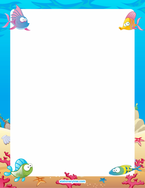Free Fish Stationery And Writing Paper Free Printable Stationery Writing Paper Borders For Paper