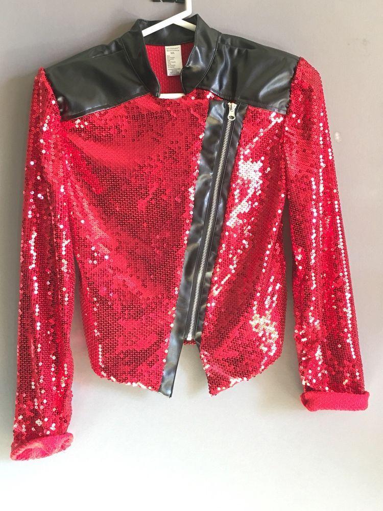 WEISSMAN COSTUME Michael Jackson Thriller Red Sequin