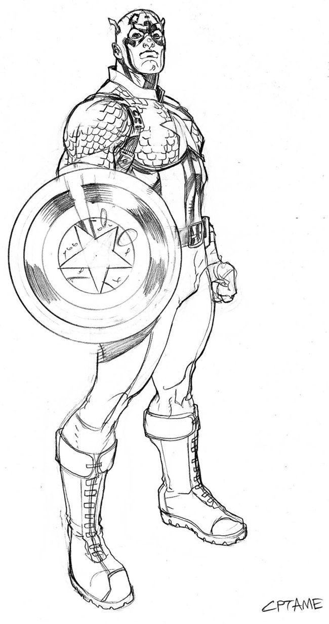 Captain America Pencils by *TerryDodson on deviantART