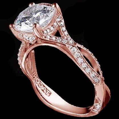 Images Of Tacori Rose Gold Engagement Ring Weddings Center
