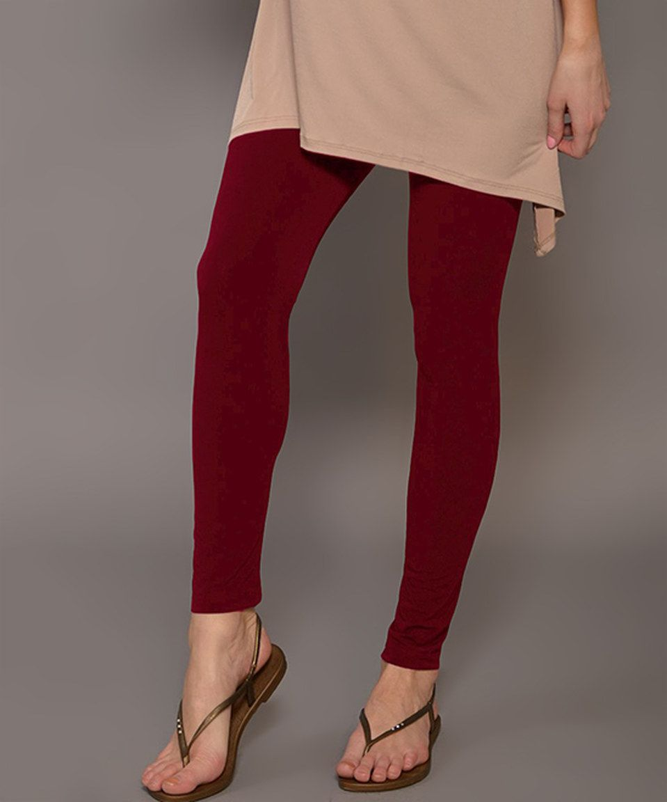 ccbf069f91a98 Loving this Lbisse Burgundy Leggings on #zulily! #zulilyfinds ...
