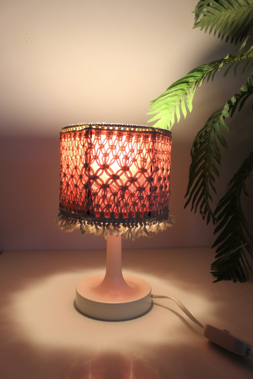 White 70s Table Lamp Boho Pop Hippy Lamp Vintage Bedside Etsy In 2020 Farmhouse Lamps Vintage Bedside Lamp