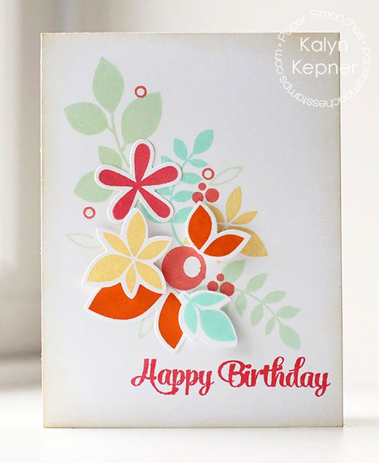 Virtual Smooches: Floral Birthday Reflections Card