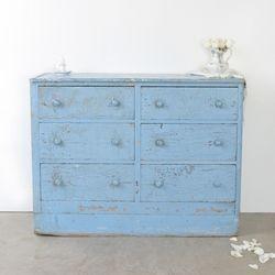 Vintage Blue Dresser l Rachel Ashwell Shabby Chic Couture l Shabby Chic
