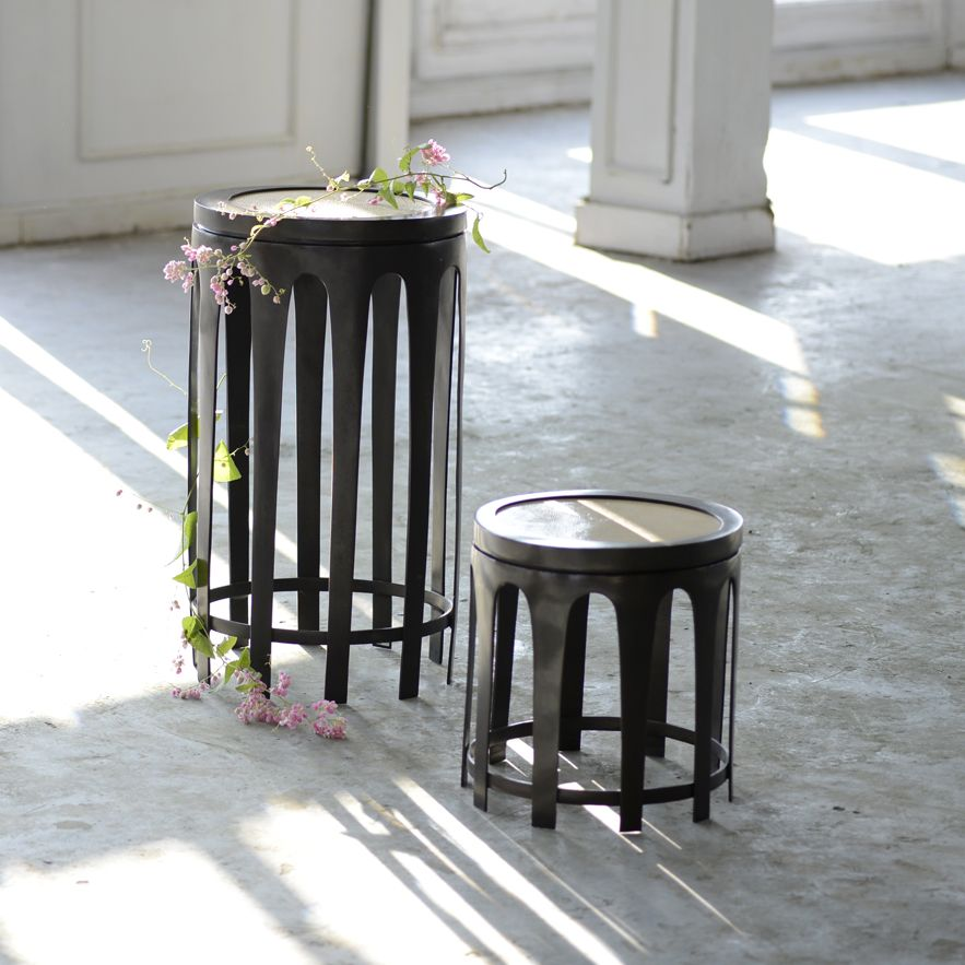 Alexander Lamont Jewellery Inspired Bague Spot Tables Made In Bronze And  Shagreen.