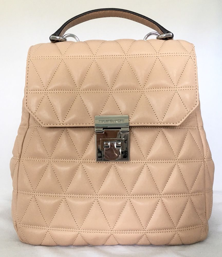 4575dacaf762 MICHAEL Michael Kors Vivianne Oyster Leather Quilted Backpack 35T8SVAB2T  #fashion #clothing #shoes #accessories #womensbagshandbags ...