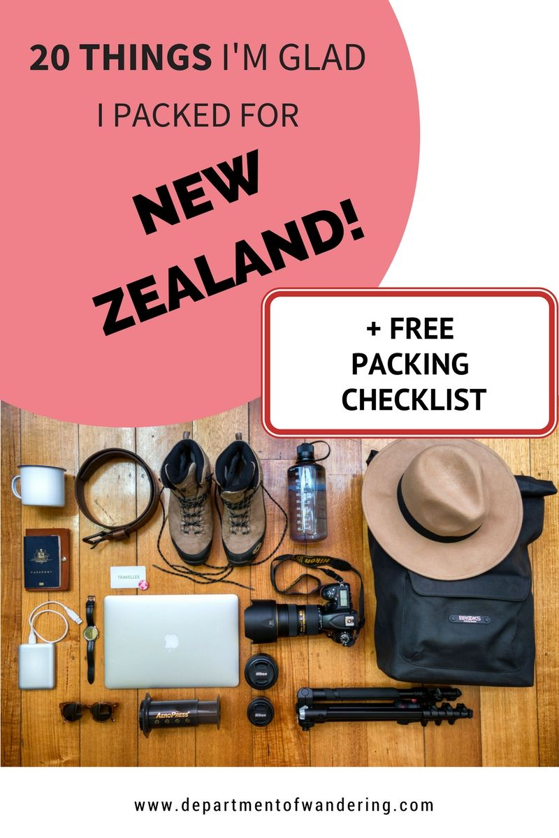 20 Things I'm Glad I Packed for New Zealand (And 3 I Wish I Had!)