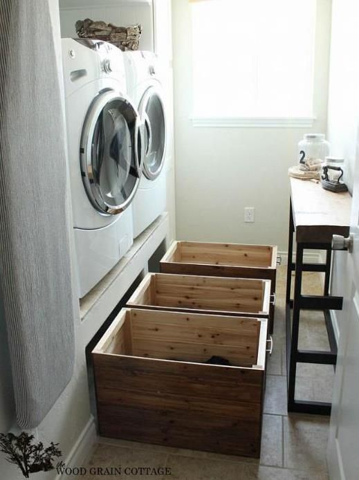 A Brilliant Way To Hide Laundry Room Clutter Laundry Room Diy