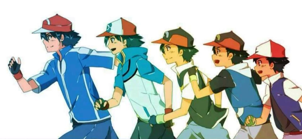 Ash Ketchum Through The Years With Images Ash Pokemon Ash Ketchum