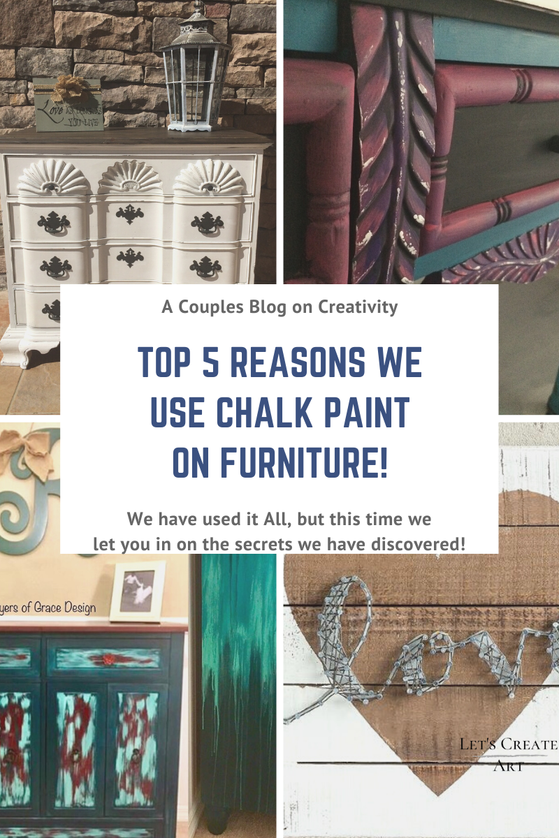 There are many different types of paint you can use on furniture so why do so many DIYers and Furniture Painters choose Chalk Paint (and no we do not mean the black Chalk Board Paint from school!)?   Check out our Blog on the Top 5 Reasons we use Chalk Paint. This is perfect for anyone exploring the idea of Painting Furniture, upcycled projects, DIY Decor and Cabinet Painting. #diyfurniture #paintedfurniture #chalkpaintedfurniture #furnitureflip