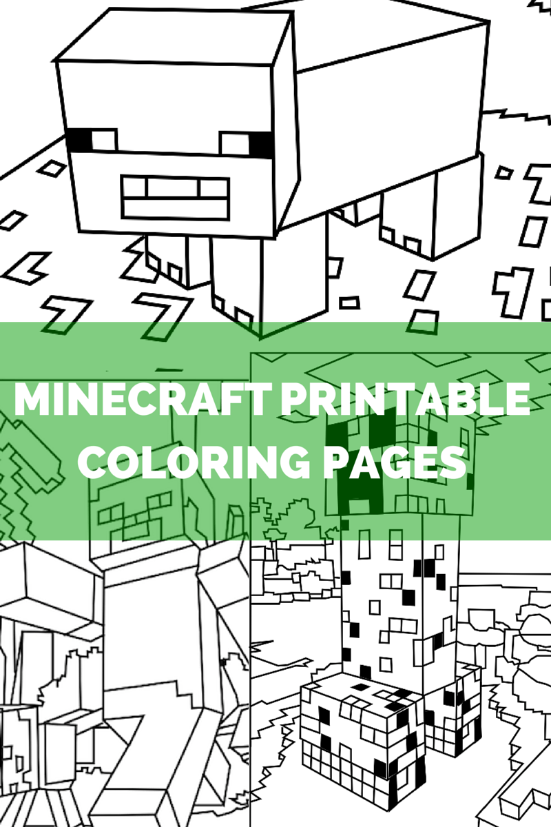Minecraft Coloring Pages   Filing and Craft