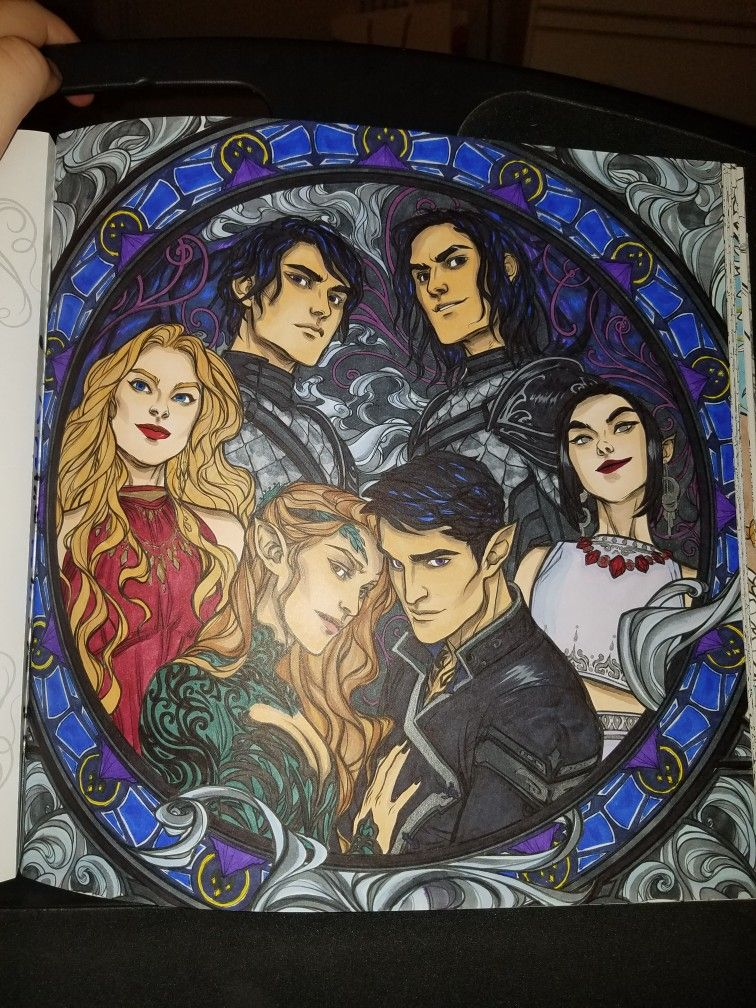 Acotar Coloring Book Coloring Books Coloring Book Art A Court Of Mist And Fury