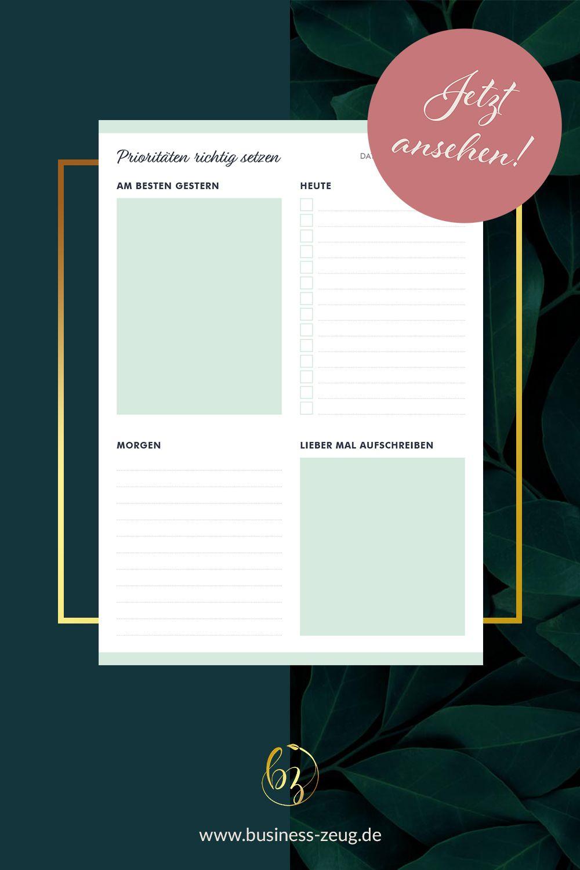 Prioritäten-Liste DIN A5