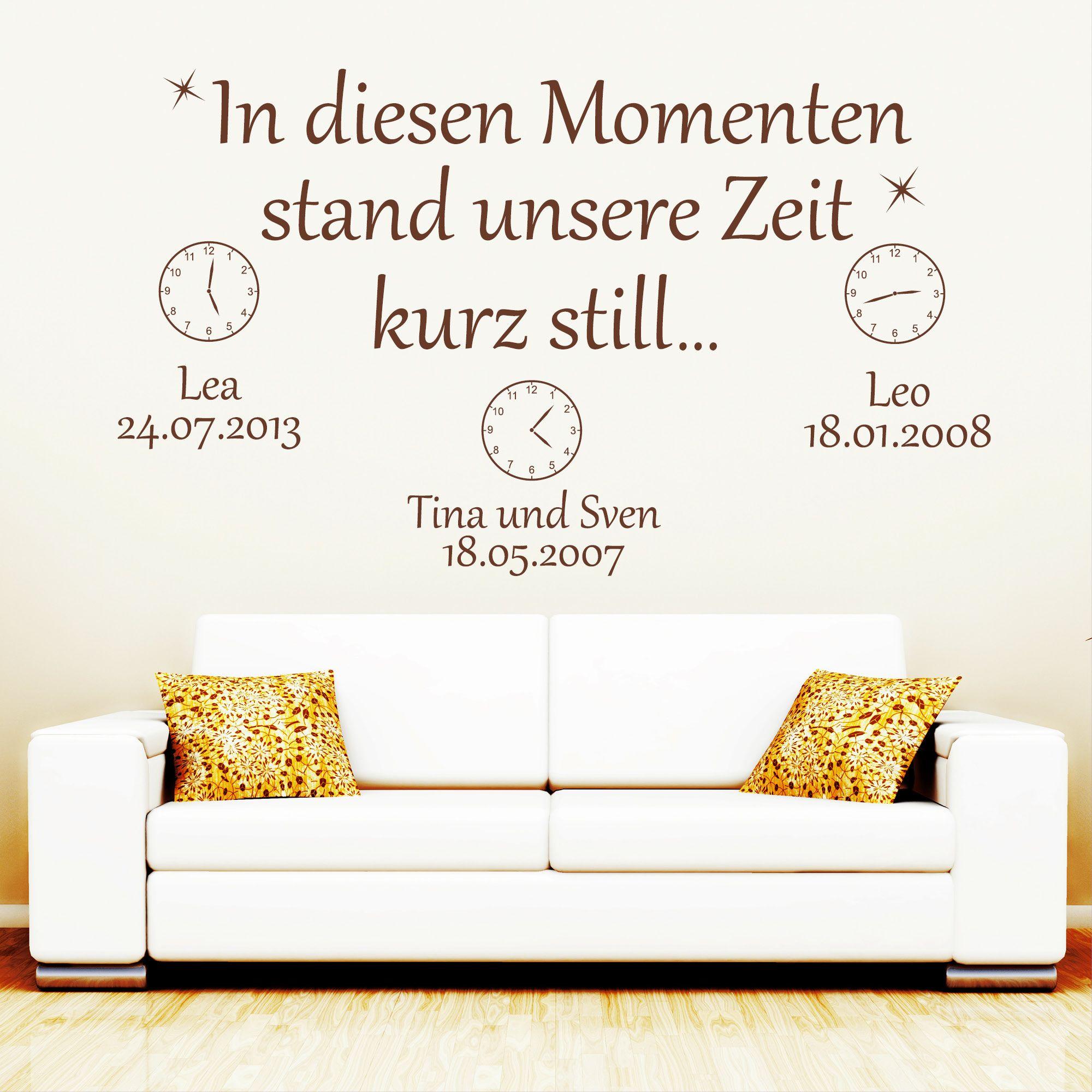 In Diesen Momenten Stand Unsere Zeit Kurz Still Wandbild Dieser Moment Wandtattoo Wandtattoos Wohnzimmer