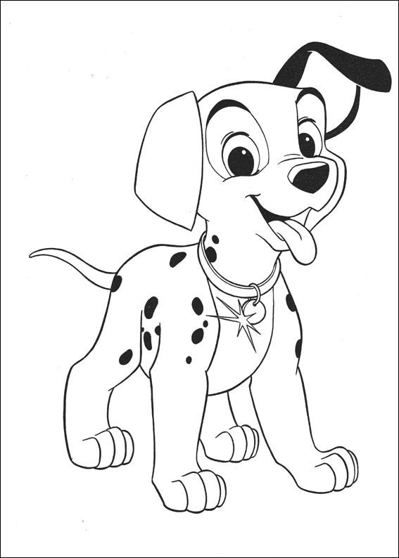 101 Dalmatians Puppy Coloring Page Puppy Coloring Pages Dog