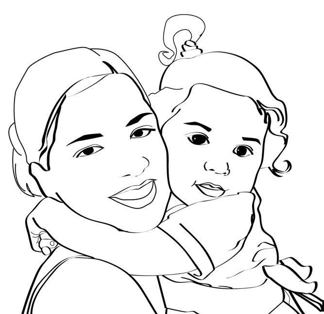 coloriage bb maman - Coloriage Maman