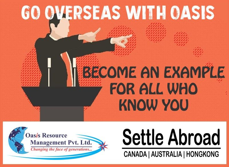 Go overseas with oasis and an example for all