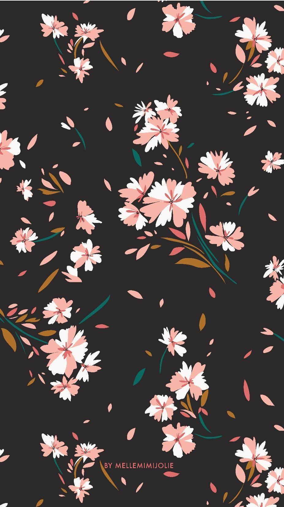 Pretty Flower Pattern Iphone Wallpaper Flower Wallpaper Screen Wallpaper Floral Wallpaper