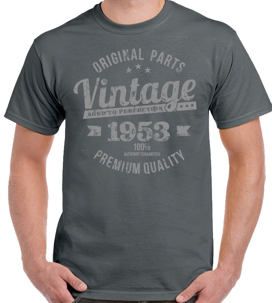 Vintage Year 1953 Premium Quality Mens 65th Birthday T Shirt 65 Old Gift
