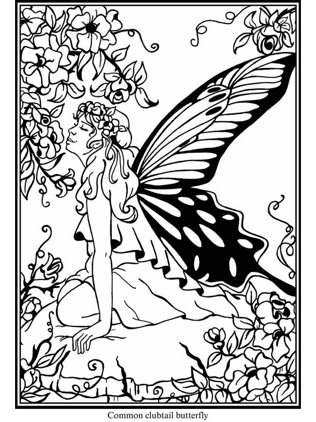 welcome to dover publications butterfly fairies stained glass coloring book - Dover Coloring Book