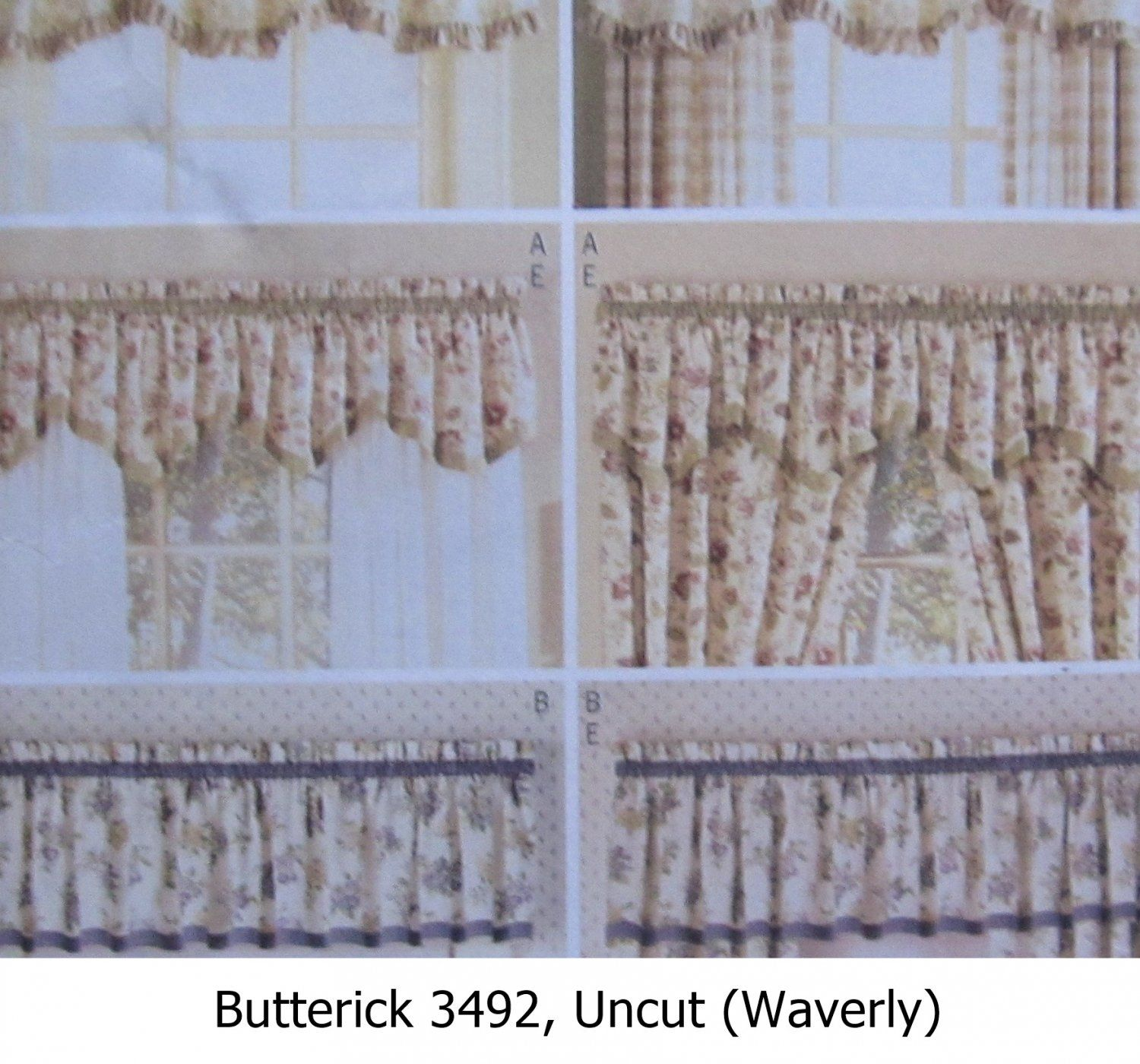 Sewing Pattern Valances D S Curtains Window Treatments