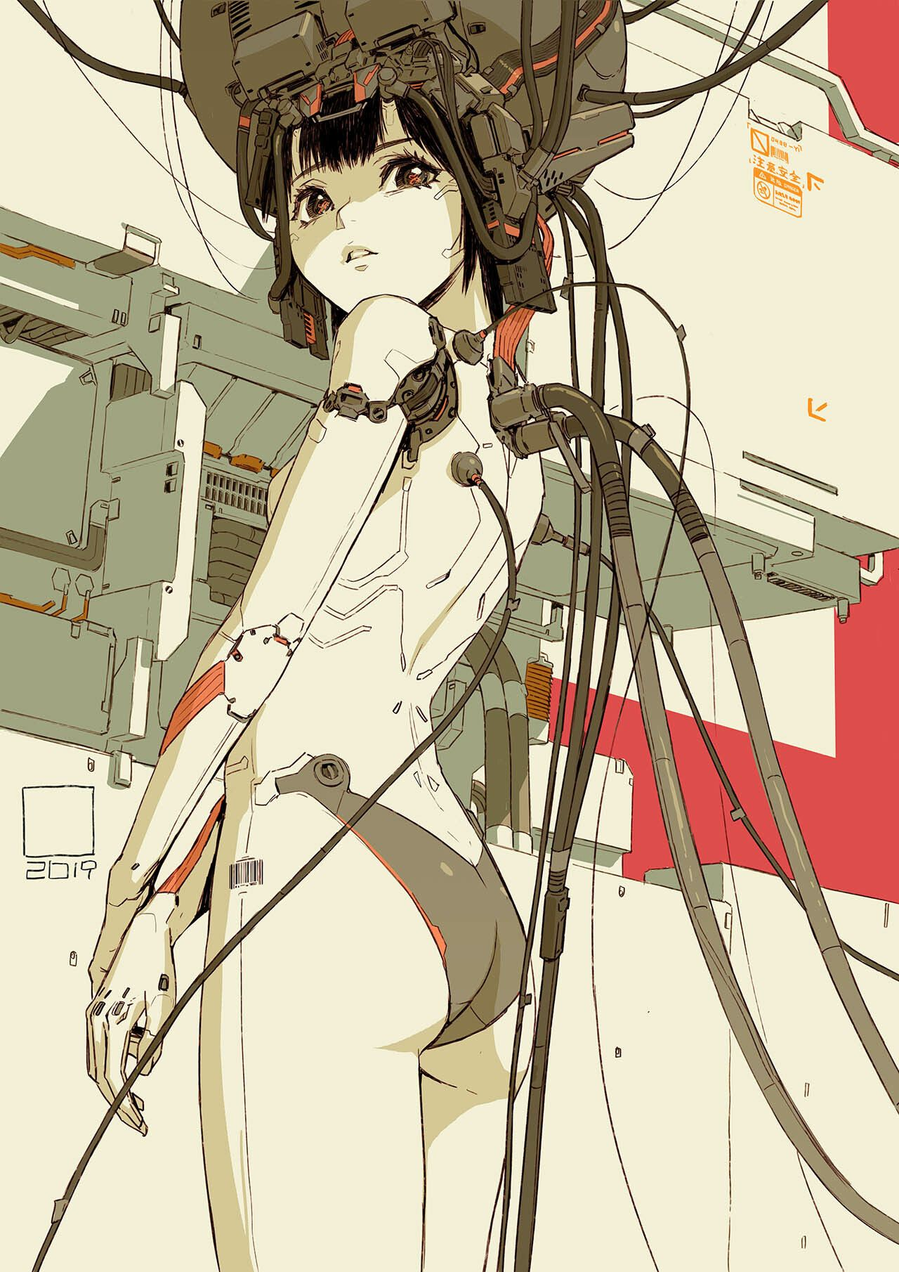 Fafifefoto Cyborg Girl07 Tan Di Cyberpunk Art Cyborg Anime Cyborg Girl