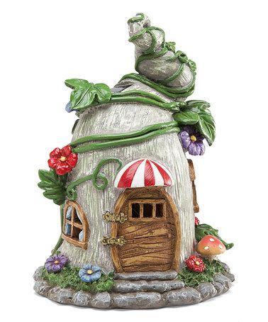 Solar Ivy Fairy Garden Cottage Statue #zulilyfinds