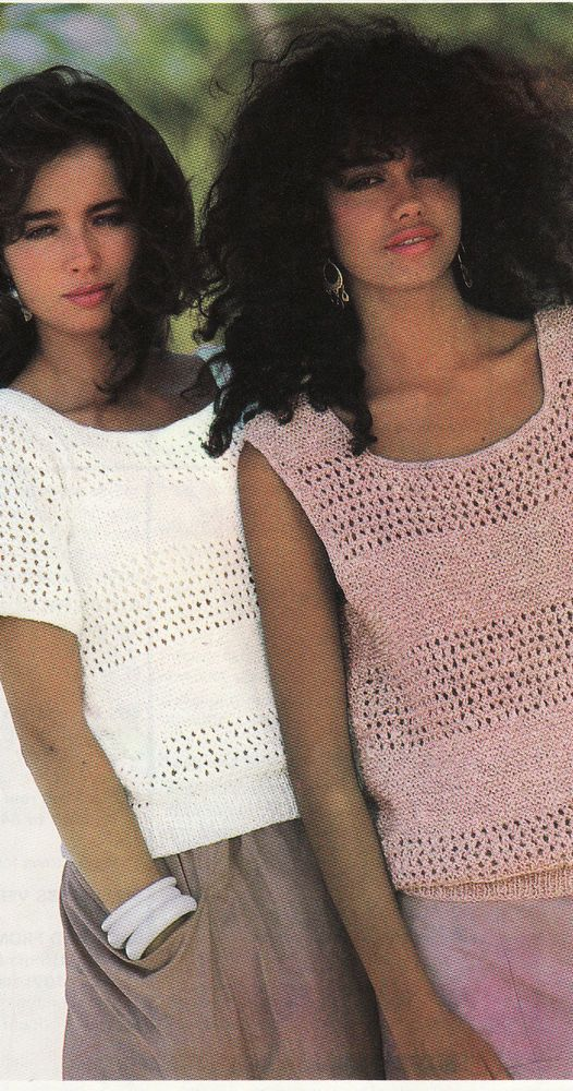 Vintage Knitting Pattern Instructions For Ladies Summer Top Sleeves