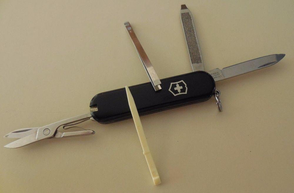 Victorinox Mini Swiss Army Knife Keychain Used Black