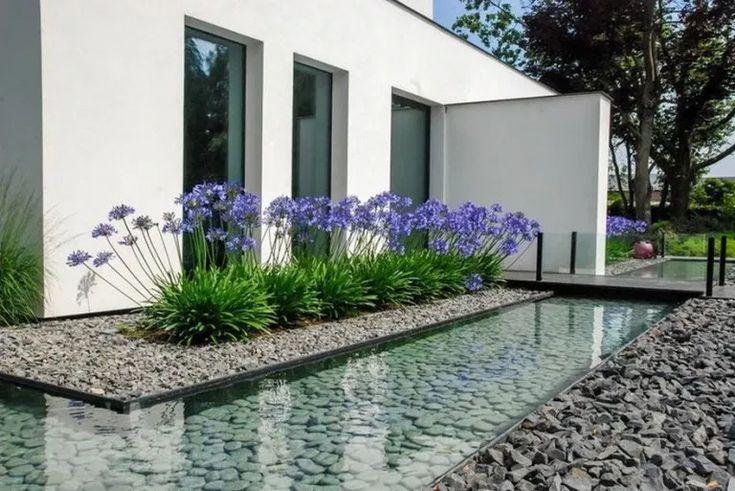 Top 45 der besten Hinterhof-Teich-Ideen  Entwürfe für Wasserspiele im Freien #pond #backya #waterfeatures