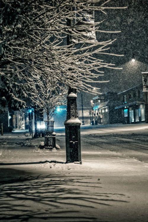 Late Night Snowfall