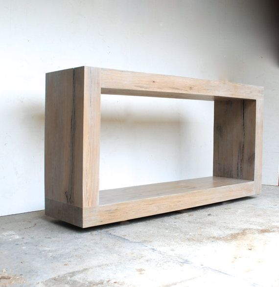 The Salvaged Oak Collection Console Table By Raka Mod On Etsy Salvaged Reclaimed Wood Console Table Rustic Living Room Furniture Living Room Decor Furniture