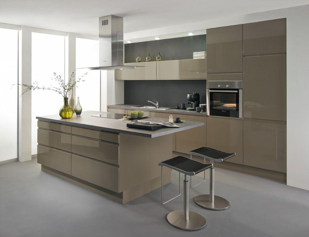 Fantastique Cuisine Avior gris beige 8490€ (électro inclus) | Cuisine moderne LK-09