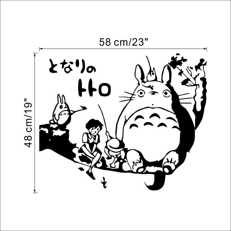 Home Decor New Diy Wall Art Totoro Wall Stickers For Kids Rooms
