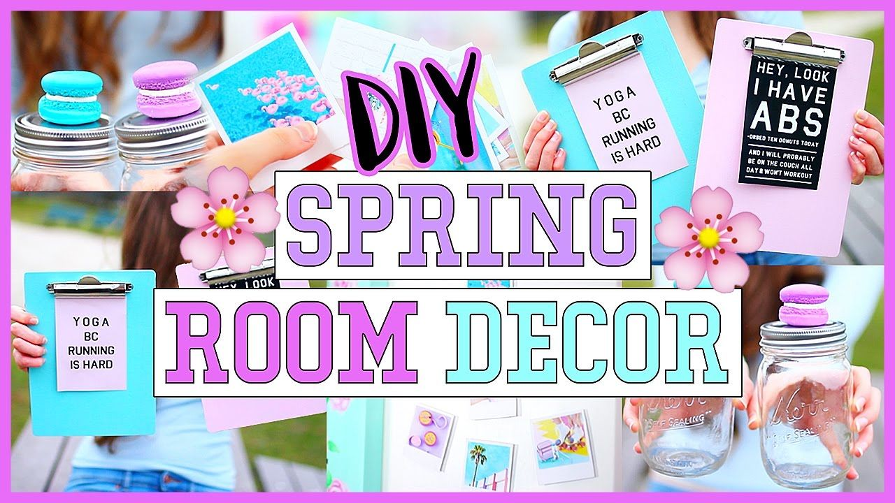 DIY Spring Room Decor & Organization Ideas