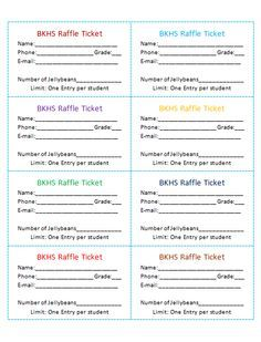 avery raffle ticket templates carnival pinte