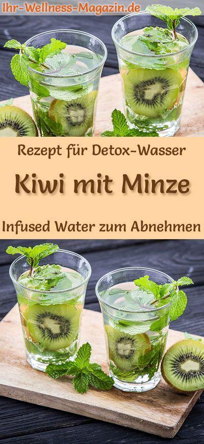 Kiwi-Minze-Wasser - Rezept für Infused Water - Detox-Wasser