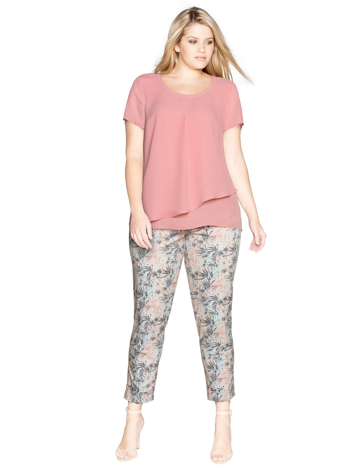 Raphaela by Brax Super slim fit Lena trousers in Pink / Versicolour ...