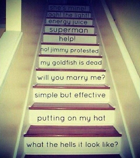 Boys from the bottom of the stairs