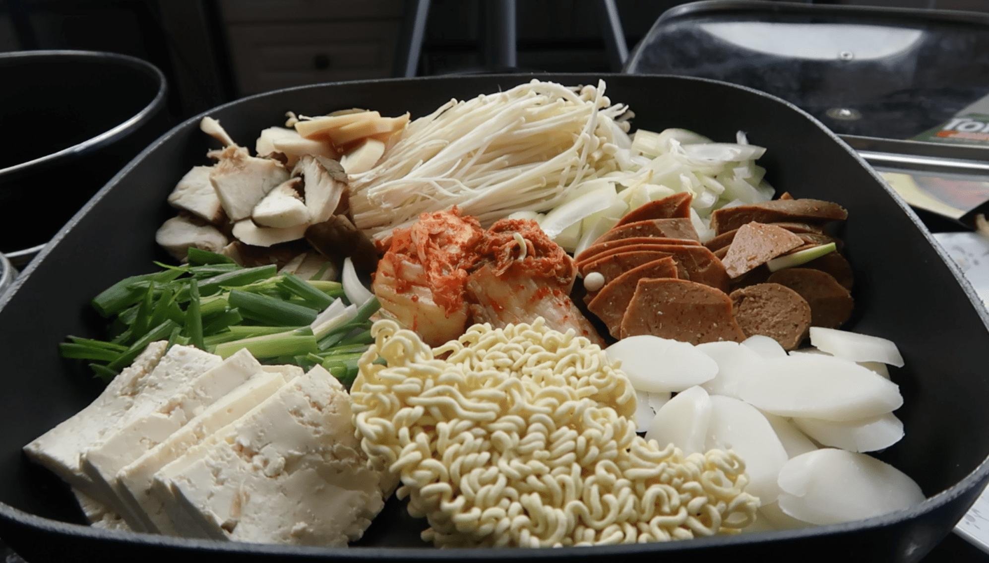 Vegan Budaejjigae Korean Army Base Stew Recipe Mukbang Stew Recipes Army Base Stew Recipe Recipes