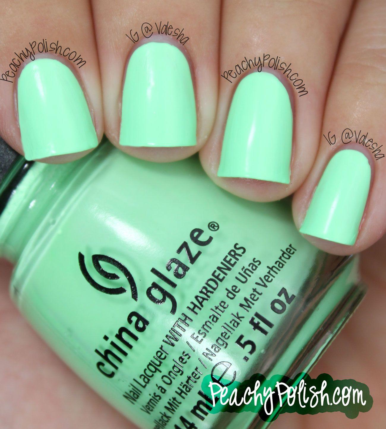China Glaze Mint Green Sunsational Summer
