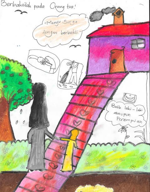 Inilah Kata Kata Mutiara Tentang Anjuran Berbakti Kepada Orang Tua Kartun Orang Orang Tua
